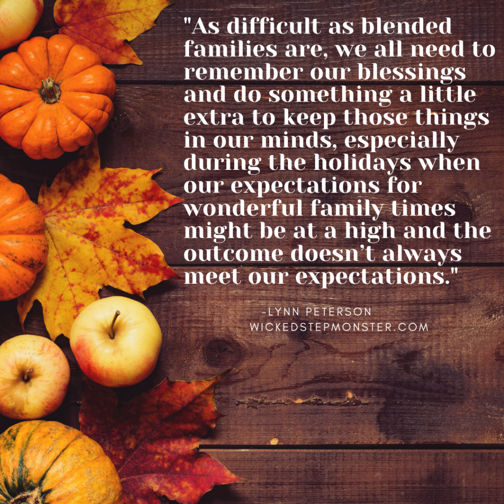blended families at thanksgiving, holidays with blended families