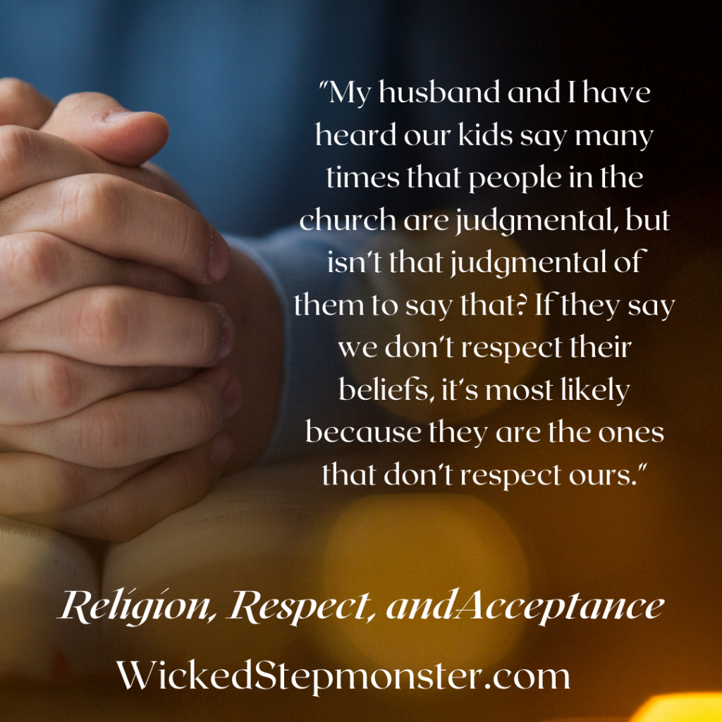 religion respect and acceptance in blended families